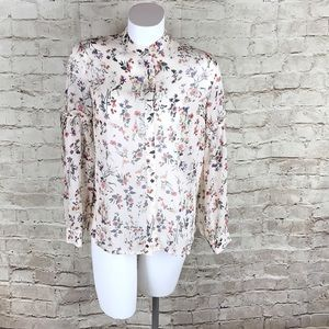 LUMIERE TOP BLOUSE Shirt Floral SMALL